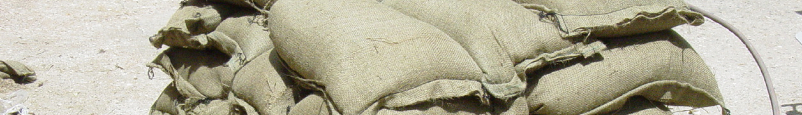 Military Specification Treated Burlap Sandbags Cover