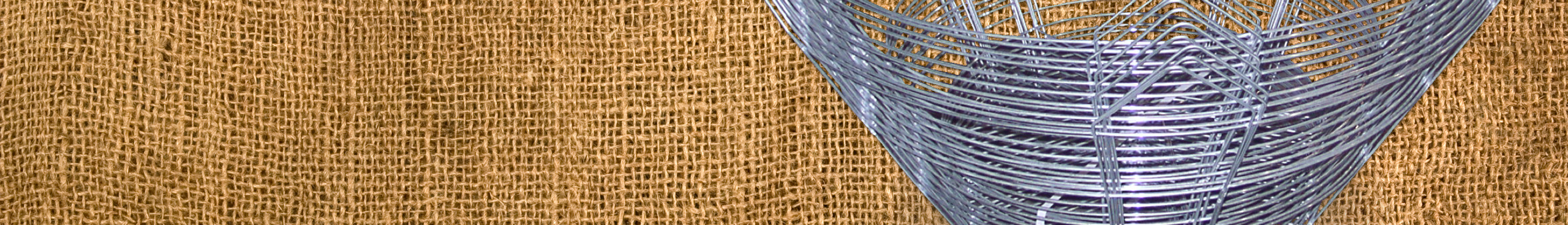 Burlap with Wire Basket