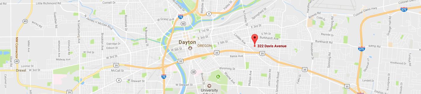 Natioal Dayton Bag & Burlap Location map