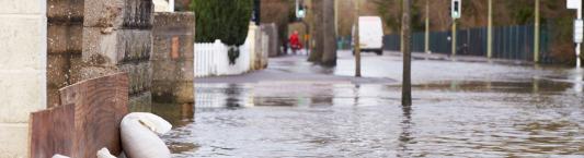 Flood protection sandbag image
