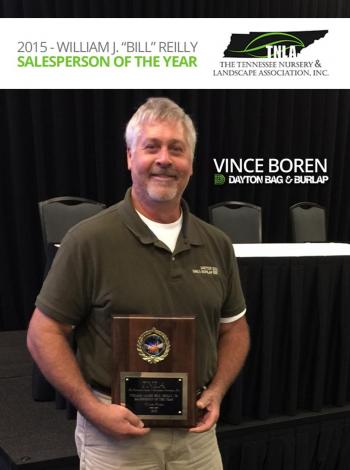TLNA Salesperson of the year Vince Boren