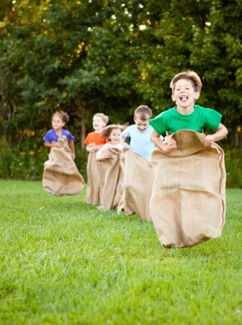 Sack races with burlap bags featured image